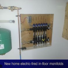 new home electric-fired in-floor manifolds