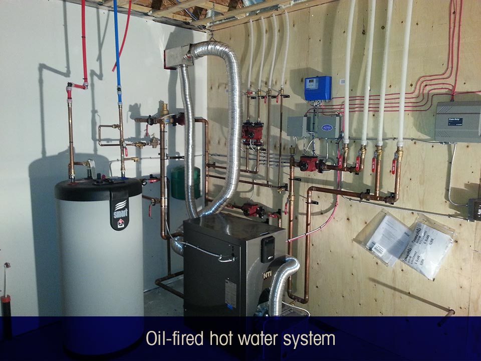 Oil-fired hot water system