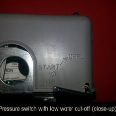 pressure switch with low water cut-off