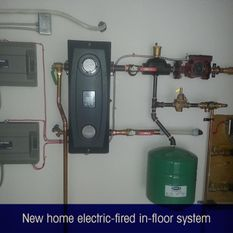 new home electric-fired in-floor system